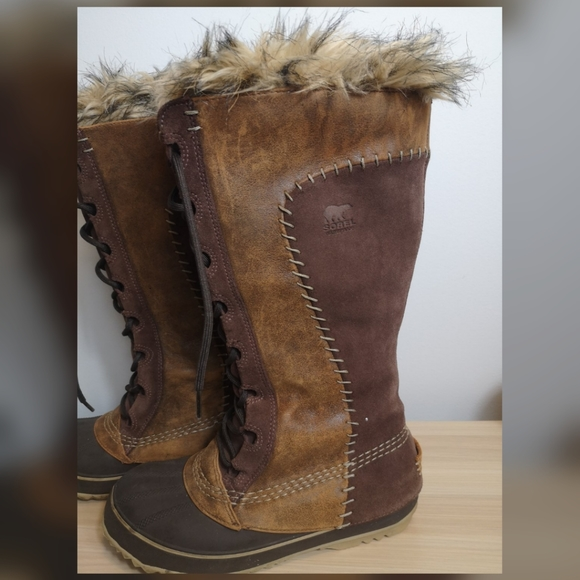Sorel tobacco Cate the Great boots